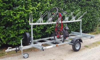 Trevor Steels Trailers -Mountain Bike carrying trailers