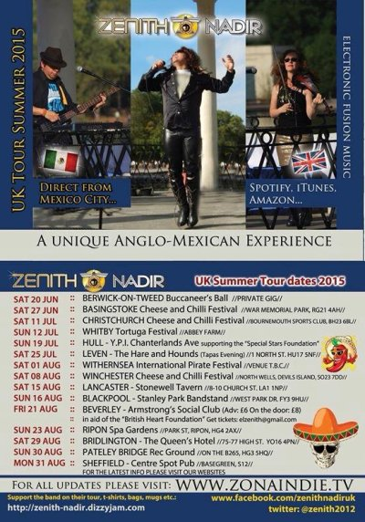 Zenith Nadir - Electronic Latin fusion band -UK Tour