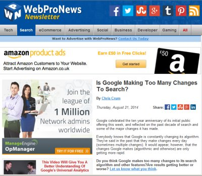 Northern Living - Is Web Pro News – The website owners friend, or an online tabloid?